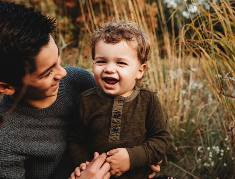 grand rapids family photographer outdoors in a field