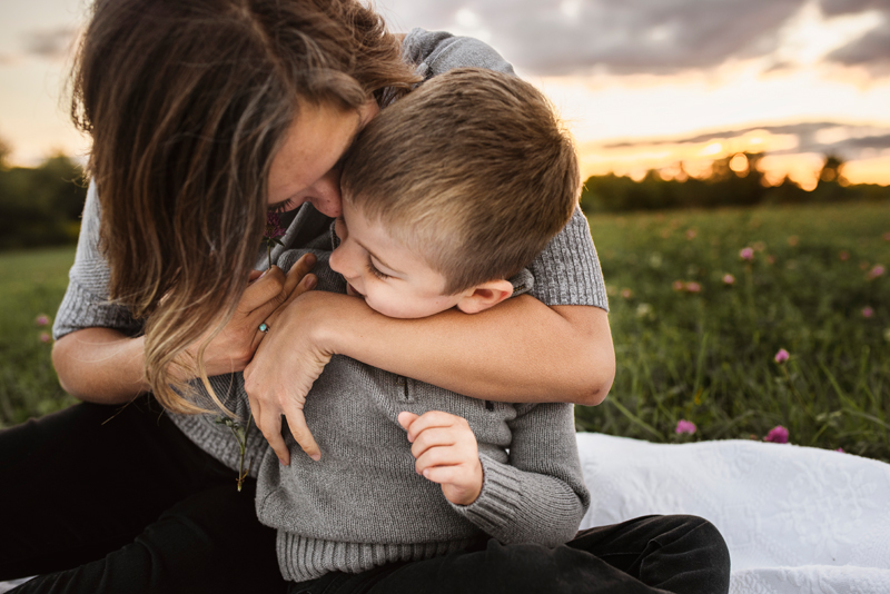 grand rapids outdoor family photographer mother and son
