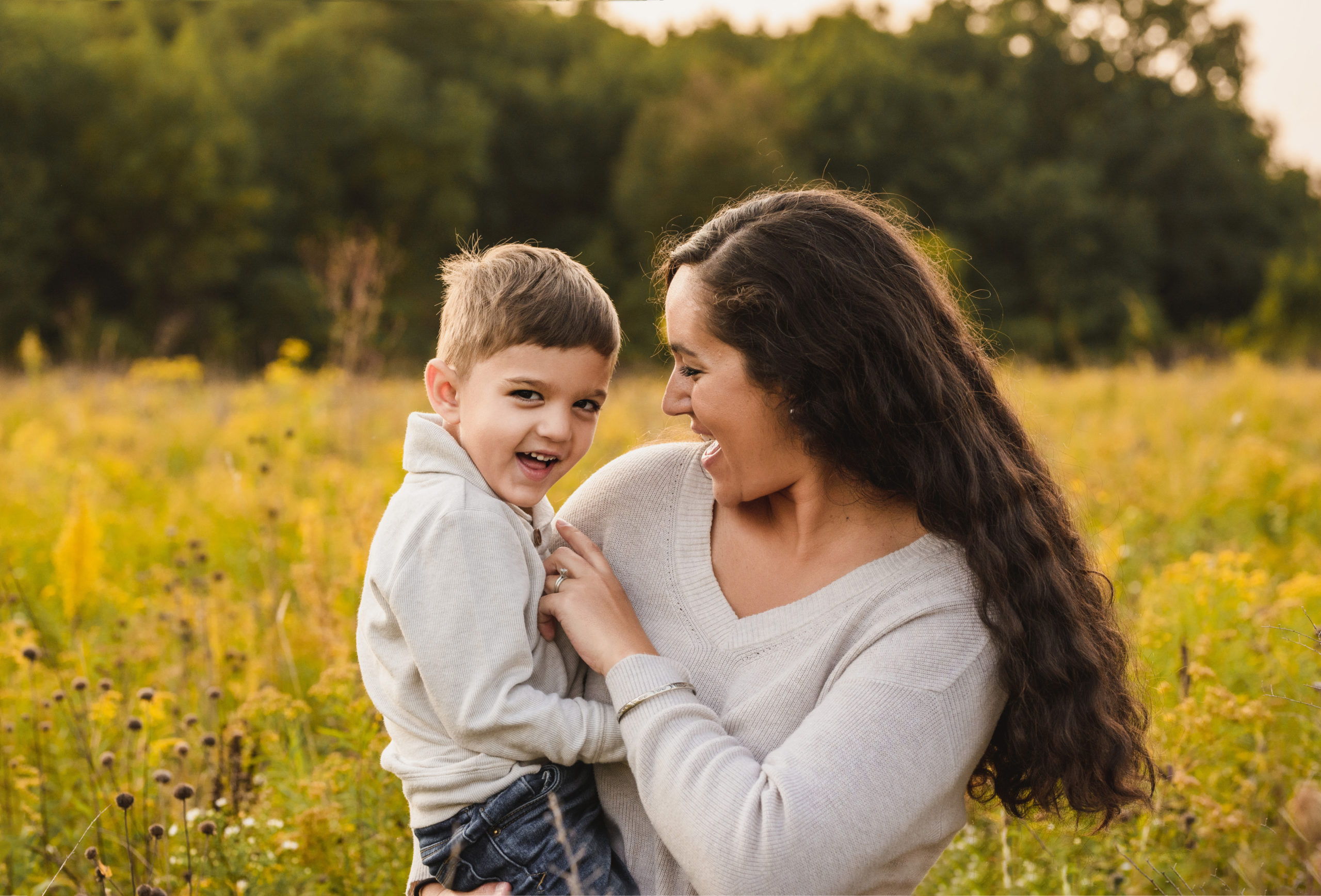 grand rapids family photo session outdoors mother with son